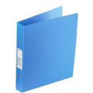 Rexel Budget 2-Ring Binder A5 25mm Polypropylene Blue 13428BU