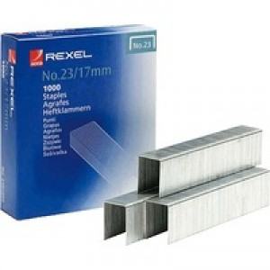 Rexel Heavy Duty Staples No23/17mm Pack of 1000 2101052