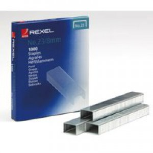 Rexel Heavy Duty Staples No23/8mm (Pk 1000) 2101054 RX13533