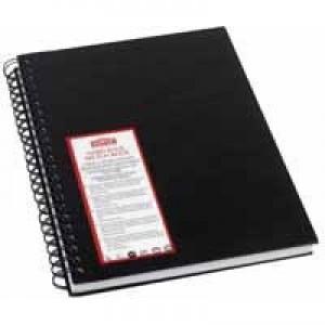 Rexel Derwent Black A4 Wiro Sketch Book White Paper 2301607