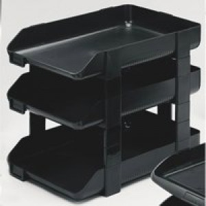Rexel Agenda 55 Letter Tray Charcoal 25206
