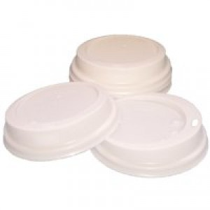 Robinson Young Caterpack 35cl Paper Cup Sip Lids White Pack of 100 RY01163