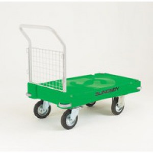 Plastic Platform Truck Push Handle 1 End Green 308504