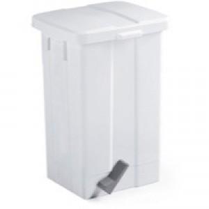 Pedal Bin 50 Litre 570x325x245mm White 312252