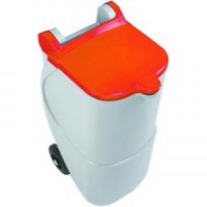 Recycling Wheelie Bin 90L Non-Locking Red 314633