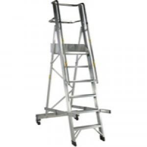Folding Mobile Steps 6-Tread 316030