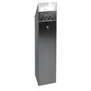 Hooded Top Tower Bin 6.6 Litre Silver 317468
