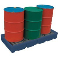 Image for Pallet Sump Poly 2 Drum Capacity Blue 321622