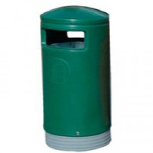 Outdoor Hooded Top Bin 75L Green 321771