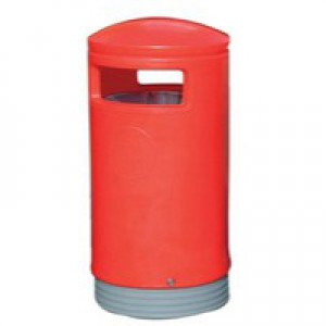 Outdoor Hooded Top Bin 75L Red 321773