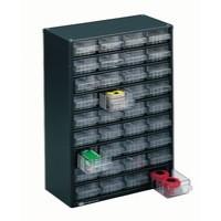 Storage Cabinet Clear Drawer System Dark Grey 324160