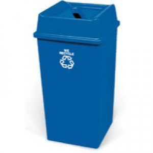 Waste Paper Recycling Bin 132.5 Litre Blue 324161