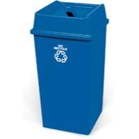 Waste Paper Recycling Bin 132.5 Litre Blue 324161