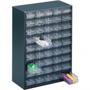 Storage Cabinet Clear Drawer System Dark Grey 324193
