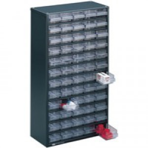 Storage Cabinet Clear Drawer System Dark Grey 324208