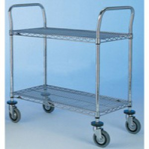 Super Erecta Trolley 2442NC 2-Tier Chrome 329025