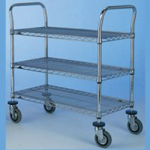 Super Erecta Trolley 2436NC 3-Tier Chrome 329047