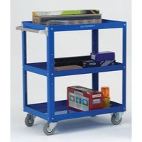 Works 3-Tier Trolley Blue 329944