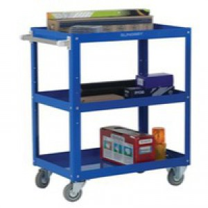Works 3-Tier Trolley Blue 329946