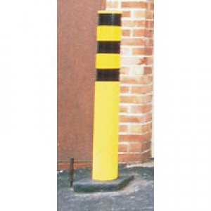 Steel Outdoor Safety Bollard Yellow 330133