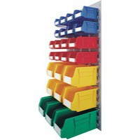 Midi Wall Mounted Unit with Coloured Bins 331569