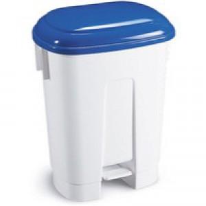 Derby Plastic Pedal Bin 30L White/Blue 348022