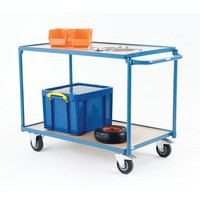 Table Top Cart Blue/Brown 354873