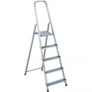 Alumiunium Step Ladder 5 Steps Plus 358739