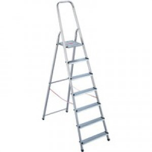 Alumiunium Step Ladder 7 Steps Plus 358741