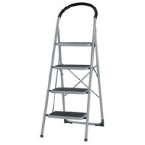 Step Ladder 4-Tread Grey/Blue 359295