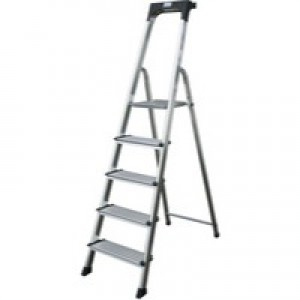 Comfort Aluminium Steps 7-Tread Silver 360998