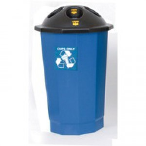General Waste Bank Closed Flap Black/Blue 361043