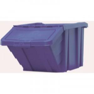 Heavy Duty Storage Bin with Lid Blue 369044