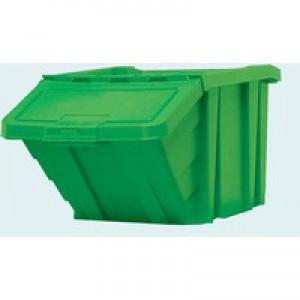 Heavy Duty Storage Bin with Lid Green 369046