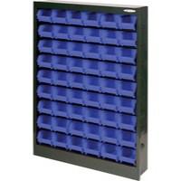 Metal Bin Cupboard with 54 Polypropylene Bins Dark Grey/Black 371836
