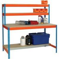 Image for Workstation 1500x750mm Blue and Orange