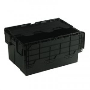 Attached Lid Container 54 Litre Black 375814