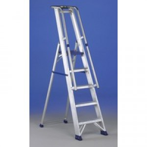 Alumiunium Step Ladder with Platform 5 Steps 377855
