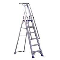 Alumiunium Step Ladder with Platform 7 Steps 377857