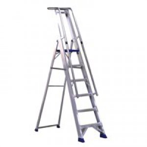 Alumiunium Step Ladder with Platform 8 Steps 377858