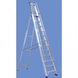 Alumiunium Step Ladder with Platform 12 Steps 377861