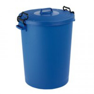 Light Duty Dustbin with Lid 110 Litre Blue 382066