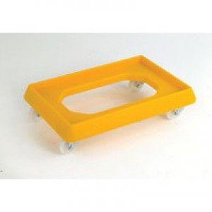 Plastic Dolly for 600x400mm Yellow 382992