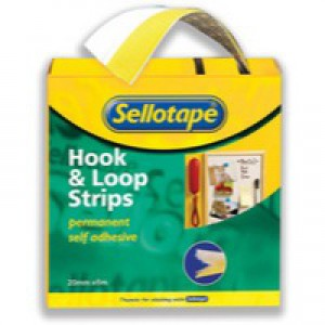 Sellotape Sticky Hook and Loop Strips in Wallet 20x450mm Code 504052