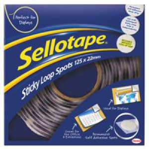 Sellotape Sticky Loop Spots Pack of 125 4099 531368