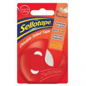 Sellotape Double-Sided Tape and Dispenser 15mm x5m