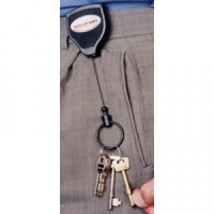 Super 48 Polycarbonate Deluxe Heavy Duty Self-retracting Key Reel Grey RHDKLOGOSKY