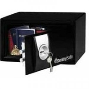 Sentry Small Key Lock Security Safe Black X031