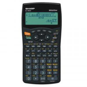 Sharp WriteView Calculator Scientific Battery-power 4-line 335 Functions 2-key Rollover Ref ELW531B