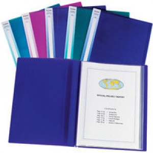 Snopake Display Book Electra A3 24-Pocket Assorted Pk 5 14103